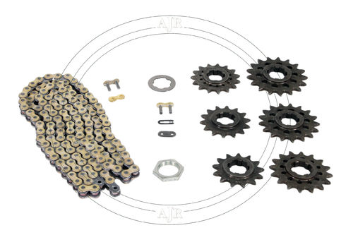 Sprocket set 13T to 18T TSS with chain
